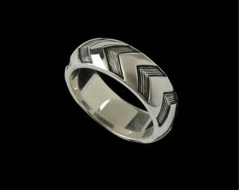 Wide Chevron Ring Band  2511S