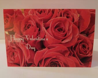 Happy Valentine's Day Blank Photo Greeting Card FREE SHIPPING 4x6