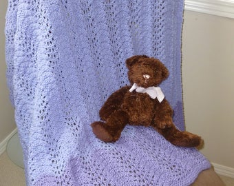 Purple Knit Blanket