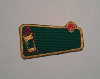 Golf Clubs with Golf Ball Golfing Jacket Patch Old School Patch - Vintage