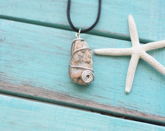 Wire wrapped cape cod necklace!