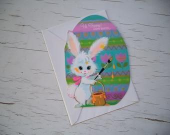Carte de Pâques marque Vintage