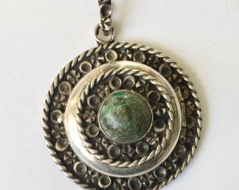vintage Mexican sterling locket pendant