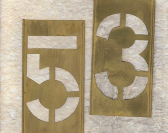 """6"""" Stencil Brass Large 6 inch Pick your Number"""