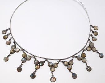 Sterling Labradorite Collar Beautiful Festoon Style