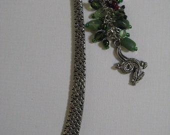 Dragon Scaly Green and Fire Red Bookmark