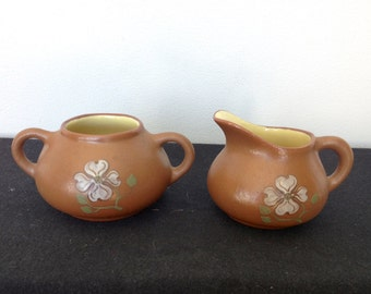 Vintage Pigeon Forge Pottery Creamer and Sugar Bowl