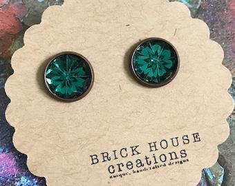 Be JEWELED Earrings- Emerald