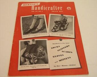 Bernat's Handicrafter Vol XV No 2 Knitting Pattern Magazine 1946