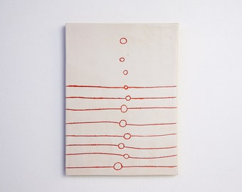 UP AND AWAY Modern Ceramic Wall Art and Trivet By Tina Schowalter Alma Artisan Clay Journal Series Home Decor Design Pottery Original White