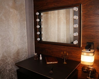 Make up mirror with lights.