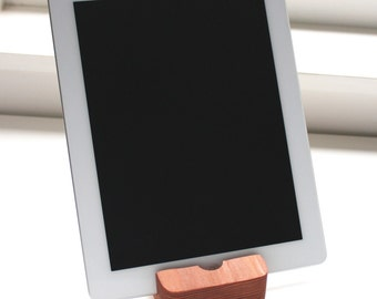 Redwood iPad Stand | Handmade Tablet Holder | Rustic | Reclaimed | Perfect Gift | Tech Gadget
