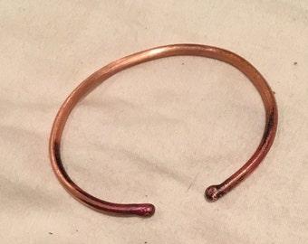 copper bangle/cuff bracelet, basic,light,easy to wear, pure copper bangle,handmade