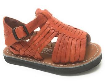 Kids Huarache Sandals. Toddlers leather sandals. Original Mexican huarache sandals