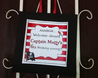 DIY Printable Pirate Party Welcome Sign