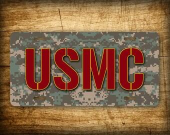 USMC License Plate ~PERFECT GIFT~ Aluminum Auto Tag 6x12 United States Marines Corps!