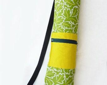 Green/Yellow Floral Yoga Mat Bag