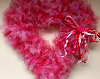 Heart Shaped Valentines Day Wreath