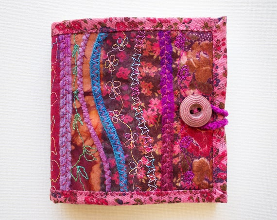 Rose Needle Book - Gift for someone who loves to sew - Deep Pink Needlework book for embroidery work and sewing kits - Gift for a crafter