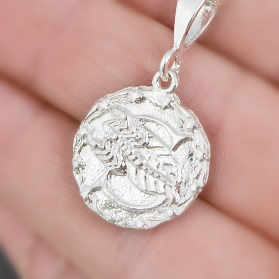 ring coin etsy uk medallion market the owl on with scorpio il