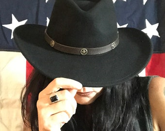 Wool Western Style Hat with Star Band