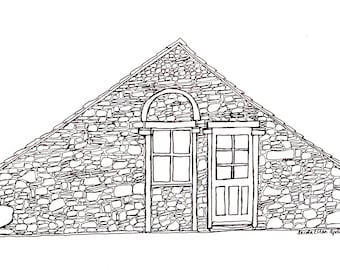 Custom House Portraits, Custom Building Portraits, House Drawing, Personalised Illustration, Father's Day Gift, Wedding Gift, House Warming