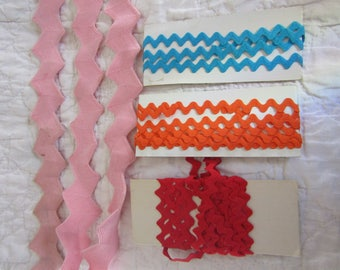 Lot of Vintage Rick Rack Multiple colors, sizes and yards