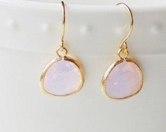 Opal earrings.  Opal drop earrings. October birthstone jewelry. Opal earrings gold. Opal dangle earrings.  Bridesmaid earrings. Gift for her