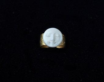 RARE Moon Face Ring