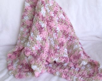 Pink Multi Colored Baby Blanket