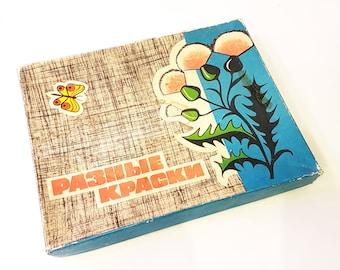 "USSR Vintage Board Game ""DIFFERENT COLORS"" 1977"