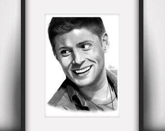 Dean Winchester Art Print (A5 / 5.8 x 8.3 in)