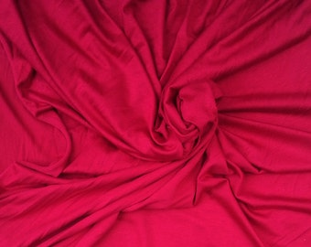 Rayon Spandex Jersey Knit Fabric by the Yard 4 Way Stretch - Lipstick 2/15