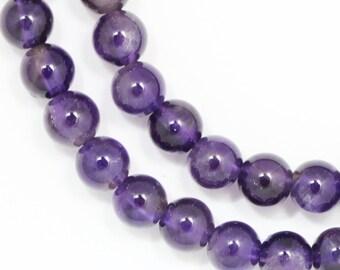 Amethyst Beads - 6mm Round