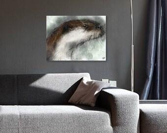 Otter print // otter art print // otter drawing // otter illustration // otter gifts // otter art // otter painting // otter animal print