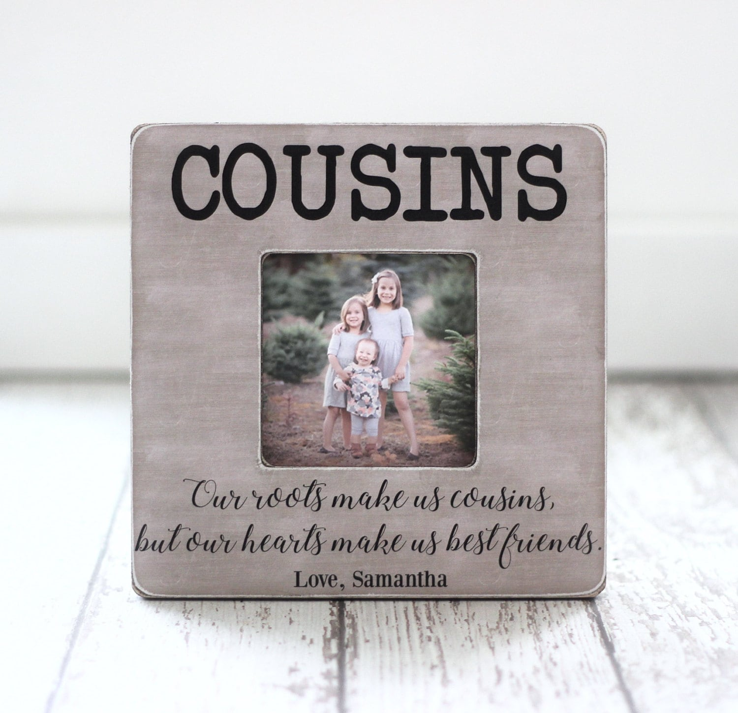 Cousin gift picture frame cousins best friends family description cousin gift picture frame jeuxipadfo Choice Image