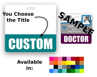 Custom Badge Buddy Horizontal Credential Title Role