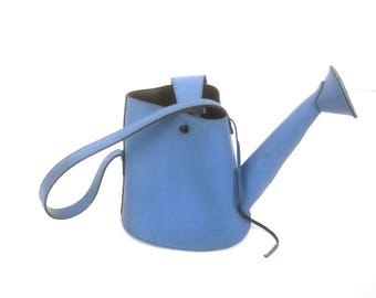 Whimsical Blue Rubber Watering Can Handbag