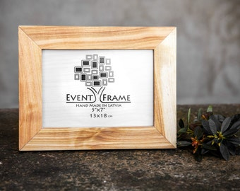 5x7 Picture Frame, Handmade Frame, Classic Picture Frame, Wooden Photo Frame, Solid Wood Frame, Birch Frame, Table Top Frame from EventFrame