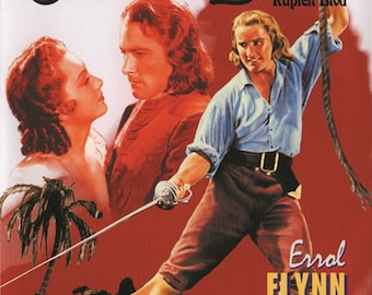 Captain Blood Errol Flynn 1935 cult movie poster reprint 19x12.5 inches