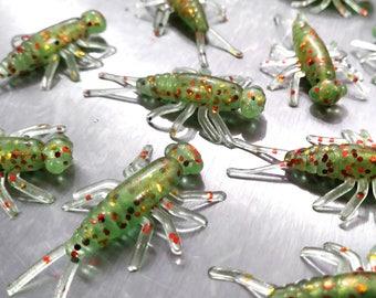 50/pack ELECTRIC GRASSHOPPER Buggeroo Fishing Lure Plastic Soft Bait Cricket Bug