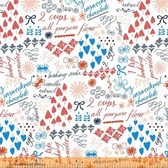 Kitchen Words Fabric, Windham Fabrics 39775 Bake, Julia Rothman, Apron  Fabric, Cooking Words, Baking Quilt Fabric, Cotton From AnnadaisysFabrics  On Etsy ...