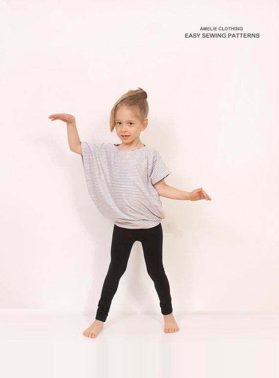 Reversible Simple TUNIC pattern Children tunic pdf pattern