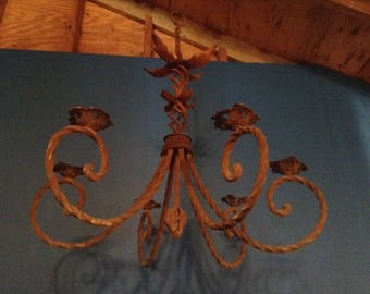 Antique Wrought Iron Candle Chandelier ***LOCAL PICKUP ONLY***