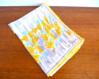 Vintage Vera Neumann Yellow Chiffon Scarf