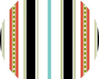 SALE Summertime, Henry Glass - Stripes in Black  - 1 yard