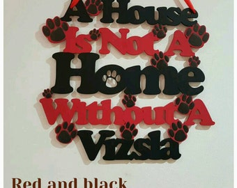 Hungarian Vizsla Wooden Hanging Wall Plaque. Great birthday gift/housewarming gift or home decor. Dog accessories. Dog breed sign.Customised