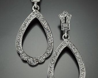Art Deco Inspired Hoop Earring