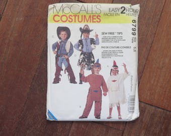 Patron - Sewing pattern - Mc Call's - Costumes pour Cowboys et Indiens - Child's Cowboys and Indians Costume