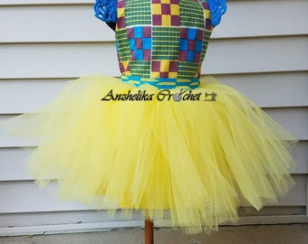 Kente Dress, Girls Ankara Dress, Ankara Tutu, African Print Dress, Ankara Dress, Liputa Dress, Kitenge Dress, Ankara Tutu Dress